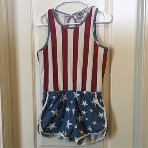 Patriotic All Over Print Romper